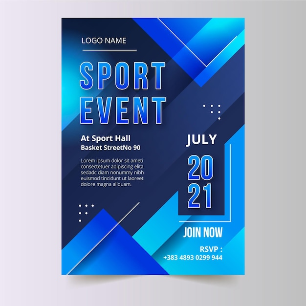 2021 sportereignisplakat Premium Vektoren