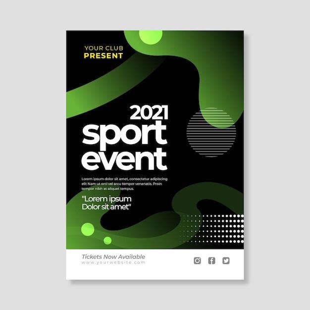 2021 sportereignisplakatschablone mit verschiedenen formen Kostenlosen Vektoren