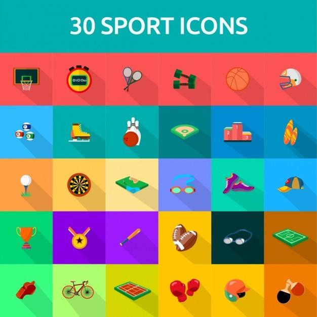 30 sport-ikonen Kostenlosen Vektoren