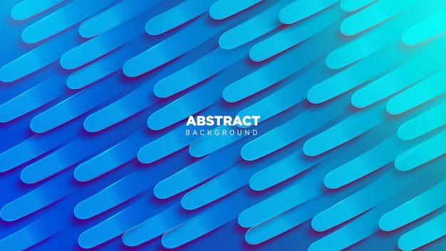 3d abstrack hintergrund in blau Premium Vektoren