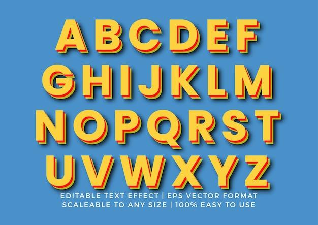 3d alphabet set Premium Vektoren