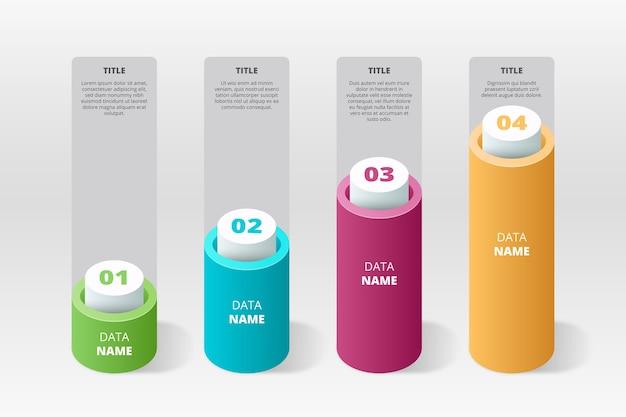 3d bars infografik Kostenlosen Vektoren
