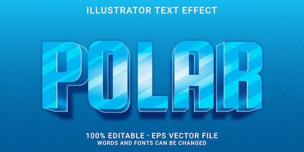 3d-bearbeitbarer texteffekt - polar-stil Premium Vektoren