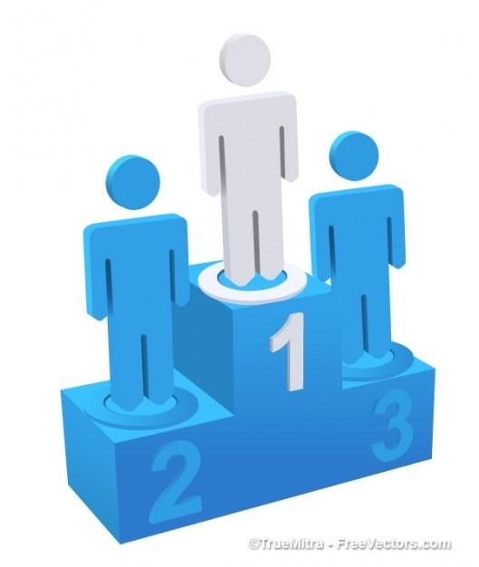 3d blau podium Kostenlosen Vektoren