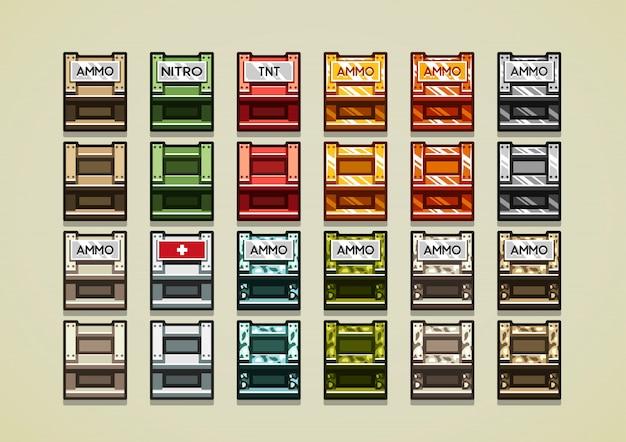 3d-boxen für videospiele Premium Vektoren