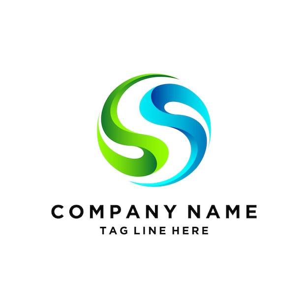 3d buchstabe s logo design Premium Vektoren