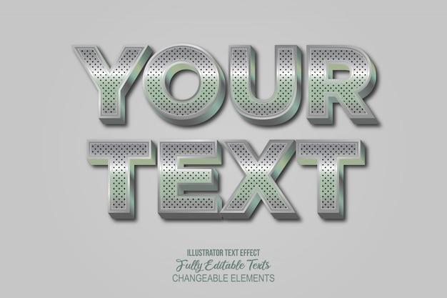 3d chrome metal text effekt grafikstil Premium Vektoren