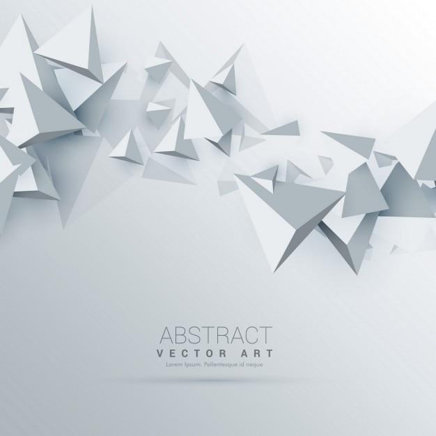 3d dreiecke abstrakten hintergrund Kostenlosen Vektoren