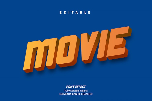 3d-filmtexteffekt Premium Vektoren