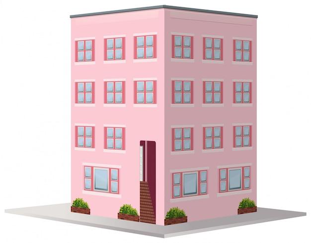 3d für mehrfamilienhaus Kostenlosen Vektoren