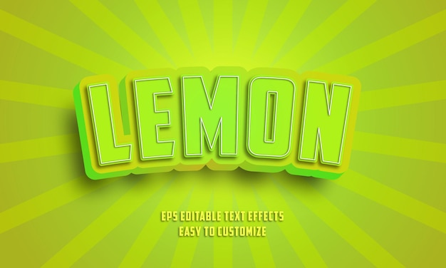3d green editable text effects style Premium Vektoren