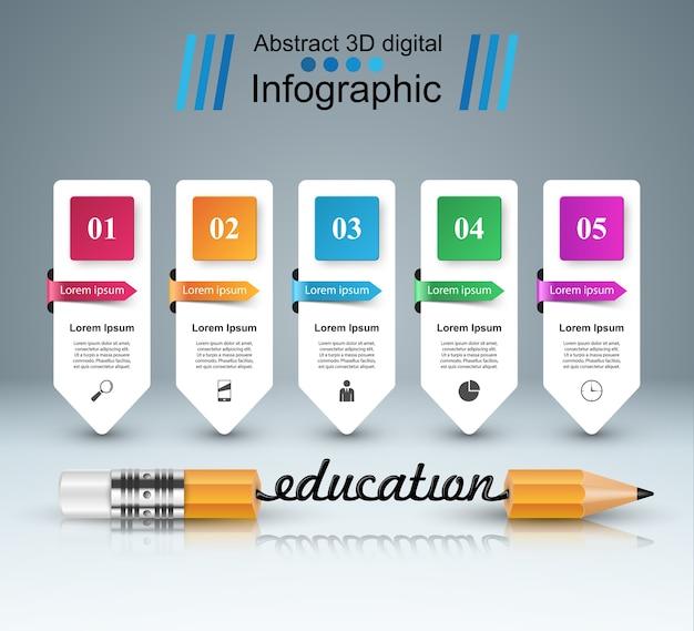 3d-infografik Premium Vektoren