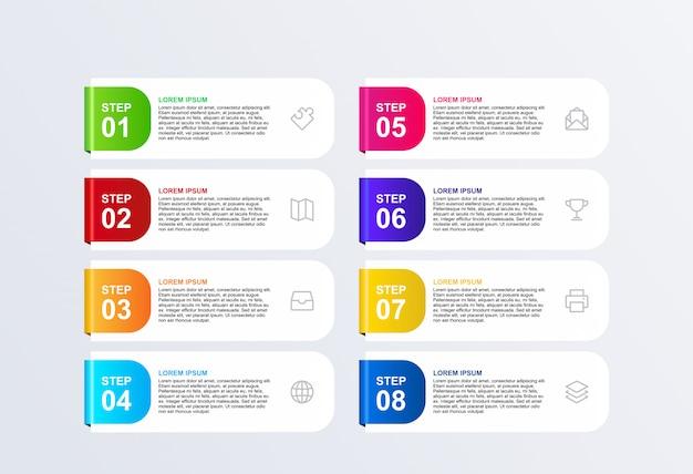 3d infographic wahldesign-schablonenvektor der fahne 8 Premium Vektoren