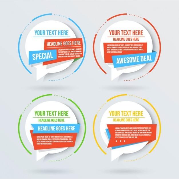 3d Kreis Optionen für die Infografik Kostenlose Vektoren