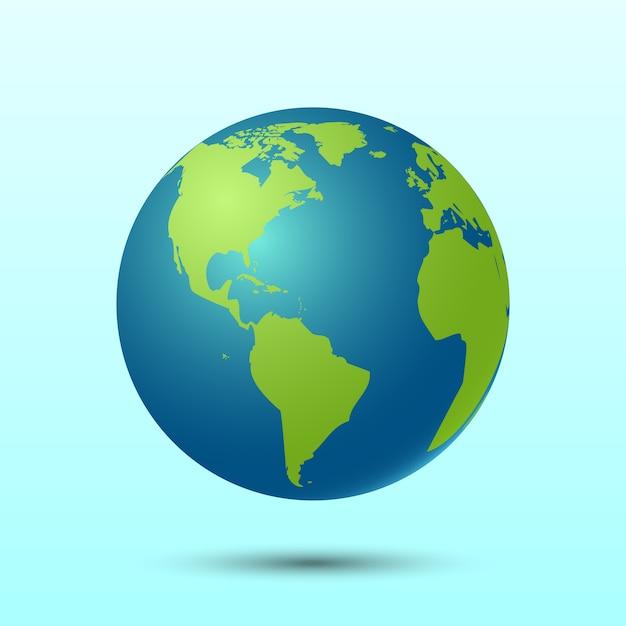 3d planet erde Premium Vektoren