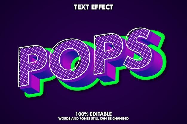 3d-pop-art-texteffekt mit reichhaltiger textur Kostenlosen Vektoren