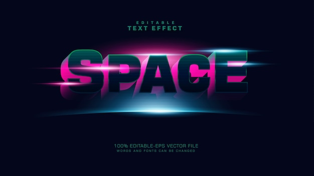 3d space text effekt Kostenlosen Vektoren