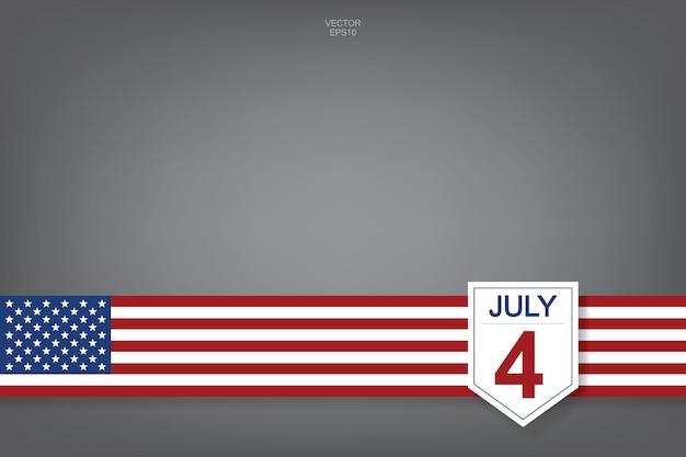 4. juli - abstraktes hintergrundzeichen und -symbol für usa. Premium Vektoren