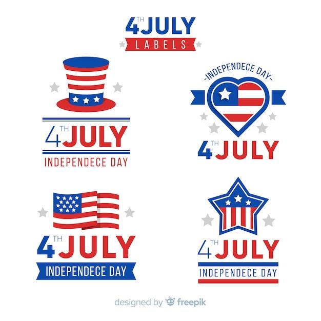 4. juli abzeichensammlung Kostenlosen Vektoren