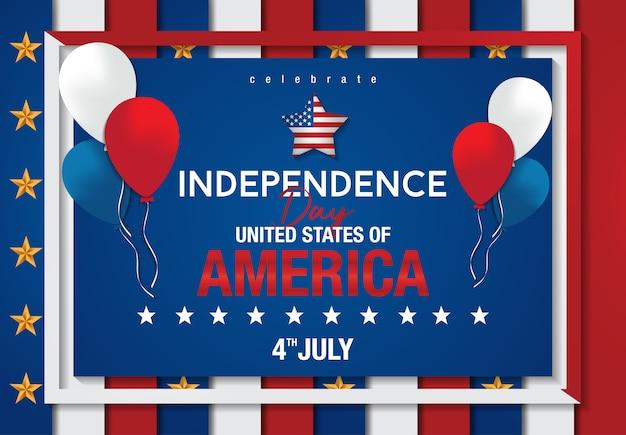 4. juli amerikanischer unabhängigkeitstag Premium Vektoren