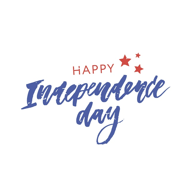4. juli. happy independence day kalligraphie Premium Vektoren