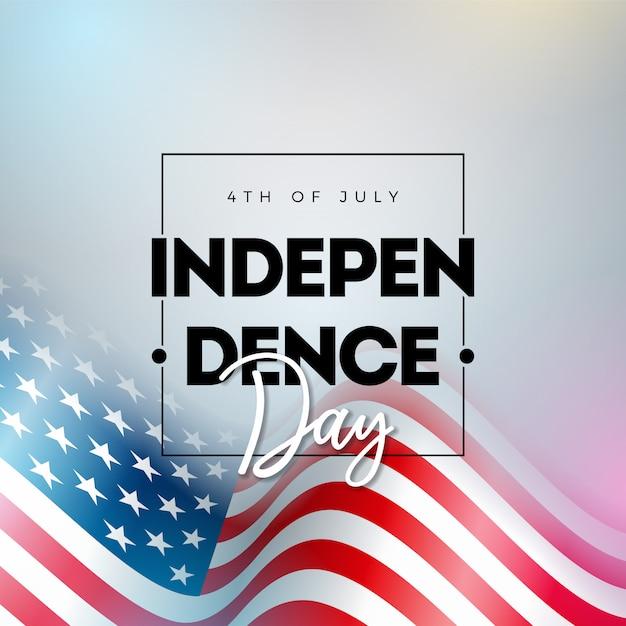 4. juli unabhängigkeitstag der usa illustration Premium Vektoren
