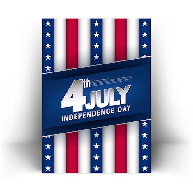 4. juli unabhängigkeitstag poster Premium Vektoren