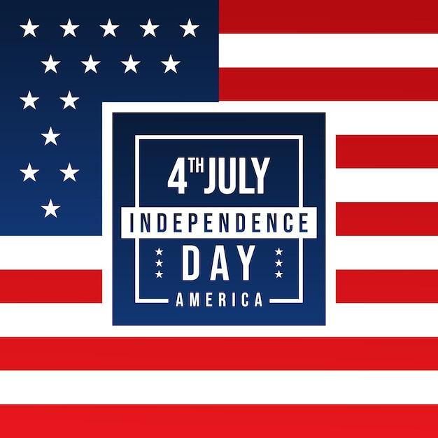 4. juli unabhängigkeitstag von amerika Premium Vektoren