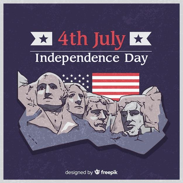 4. juli - unabhängigkeitstaghintergrund Kostenlosen Vektoren
