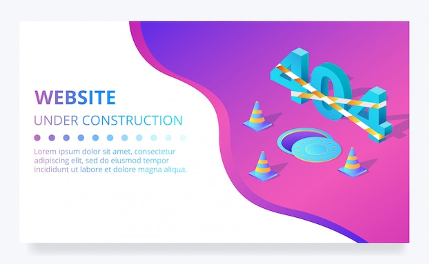 404-fehler-website im aufbau Kostenlosen Vektoren