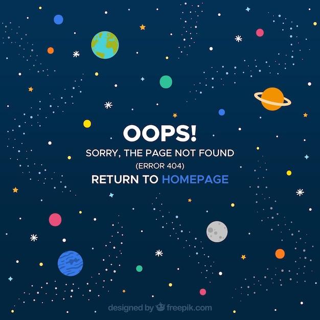 404 fehlerentwurf mit leerzeichen Kostenlosen Vektoren