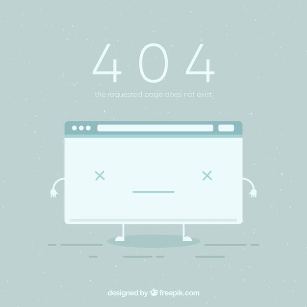404 fehlerhintergrund mit defekter seite in der flachen art Kostenlosen Vektoren