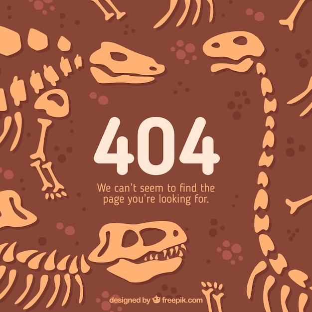 404 Fehlerkonzept-Dinosaurierskelette Kostenlose Vektoren