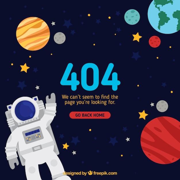 404 fehlerkonzept mit astronaut Kostenlosen Vektoren
