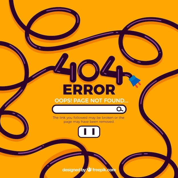 404 fehlerkonzept mit kabel Kostenlosen Vektoren