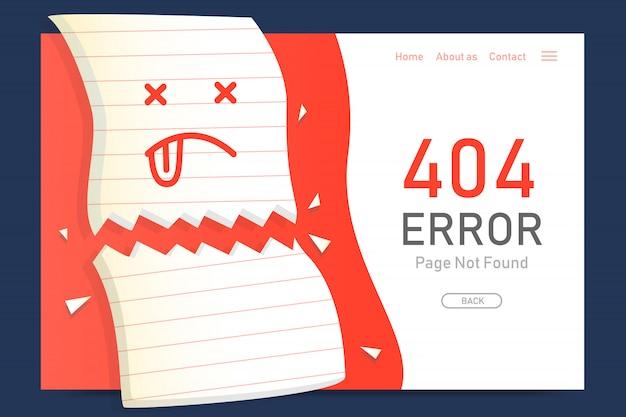 404 fehlerseite nicht gefunden verpassen papier design vorlage für website grafik Premium Vektoren