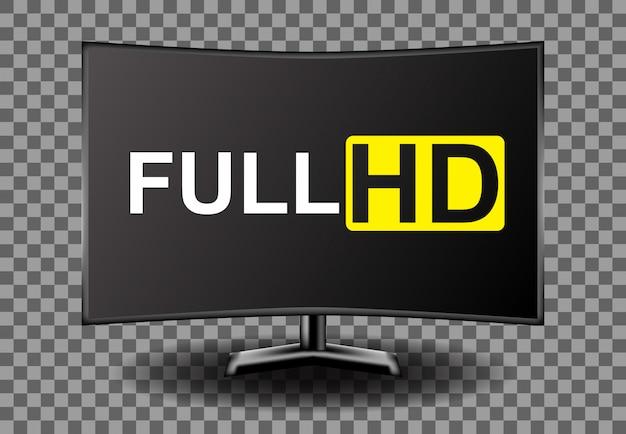 4k-full-hd-fernseher Premium Vektoren