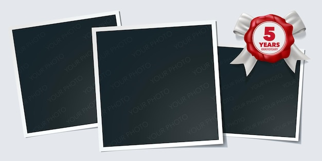 5 jahre jubiläum symbol logo design-element Premium Vektoren