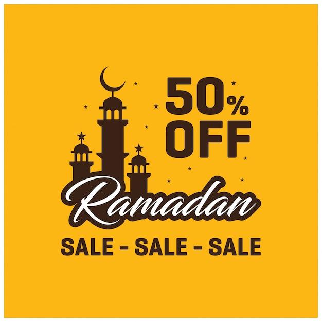 50 off ramadan kareem verkauf banner vorlage Kostenlosen Vektoren