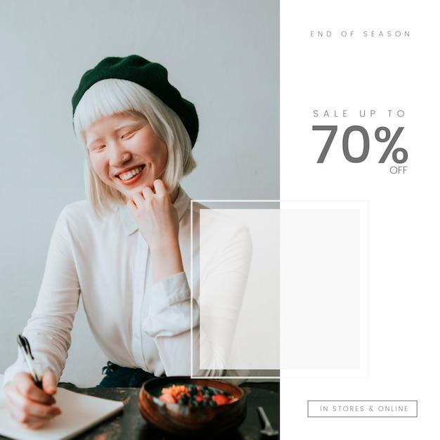 70 prozent vom verkauf Kostenlosen Vektoren