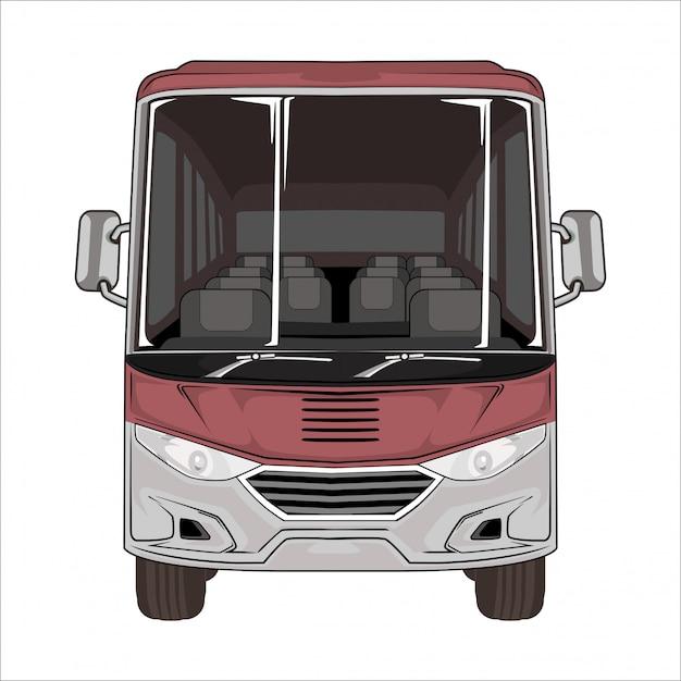 Abbildung bus weiß Premium Vektoren