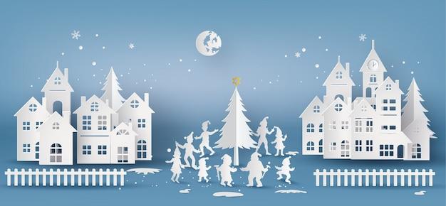 Abbildung der frohen weihnachten und des guten rutsch ins neue jahr, Premium Vektoren