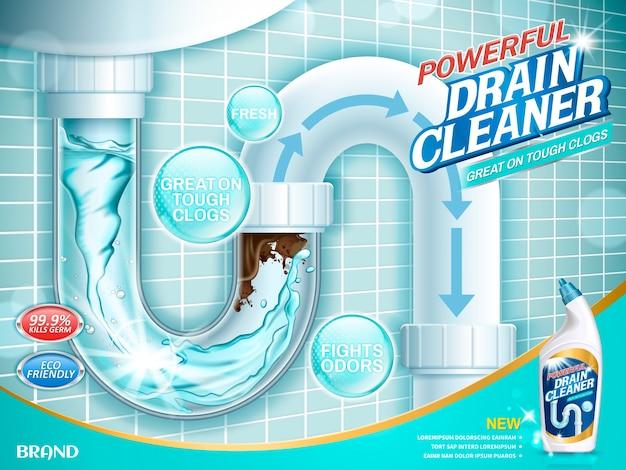 Abbildung der saubereren anzeigen ablassen Premium Vektoren