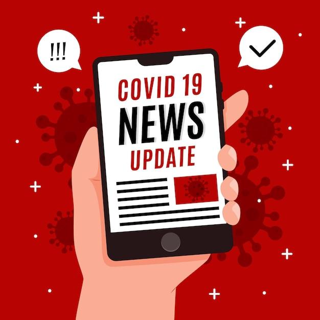 Abbildung des coronavirus-update-konzepts Premium Vektoren