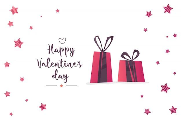 Abbildung des liebes- und valentinstags. Premium Vektoren