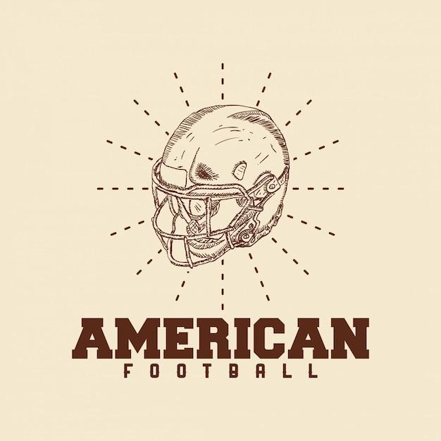 Abbildung des logos des amerikanischen fußballs Premium Vektoren