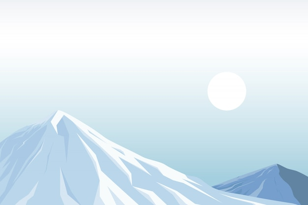 Abbildung des schneeberges Premium Vektoren