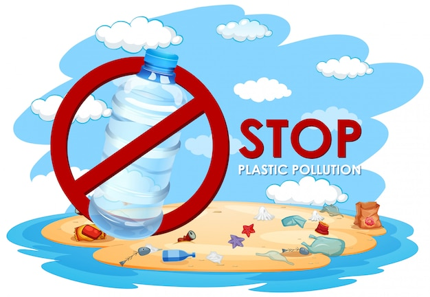 Abbildung ohne plastische verschmutzung Kostenlosen Vektoren