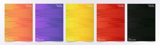 Abdeckung stellte mit abstraktem geometrischem muster mit würfeln ein Premium Vektoren