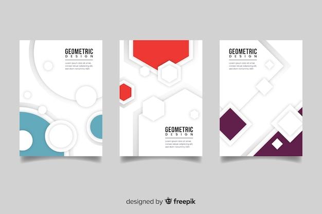 Abdeckungsschablone mit satz des geometrischen designs Kostenlosen Vektoren